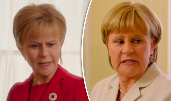 Tracey Ullman as Nicola Sturgeon and Angela Merkel