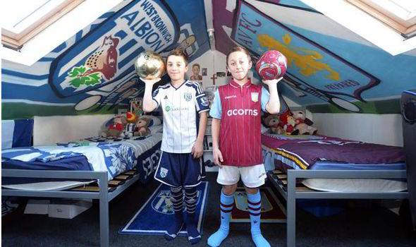 West Brom V Aston Villa Footballmad brothers split