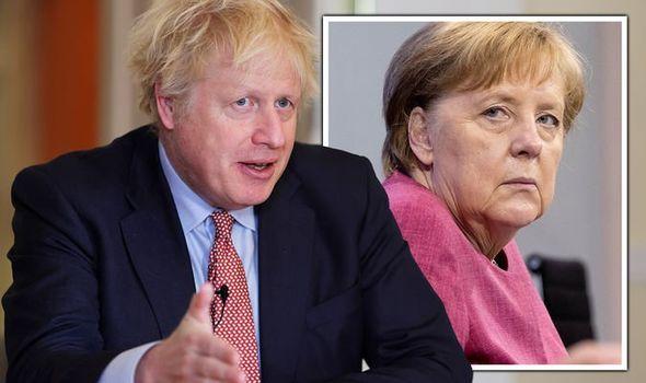 brexit boris johnson angela merkel