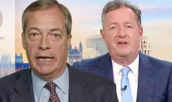 Nigel Farage and Piers Morgan