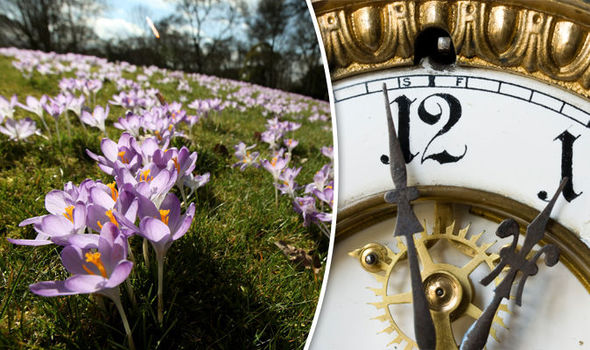 Flowers and clock