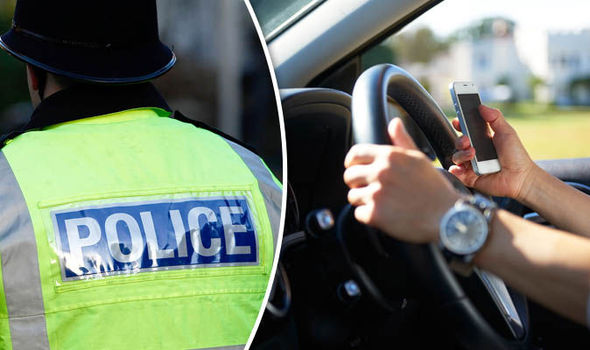 Mobile phone used while driving