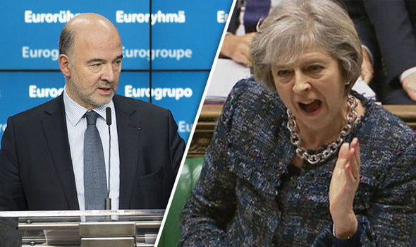 Pierre Moscovici and Theresa May