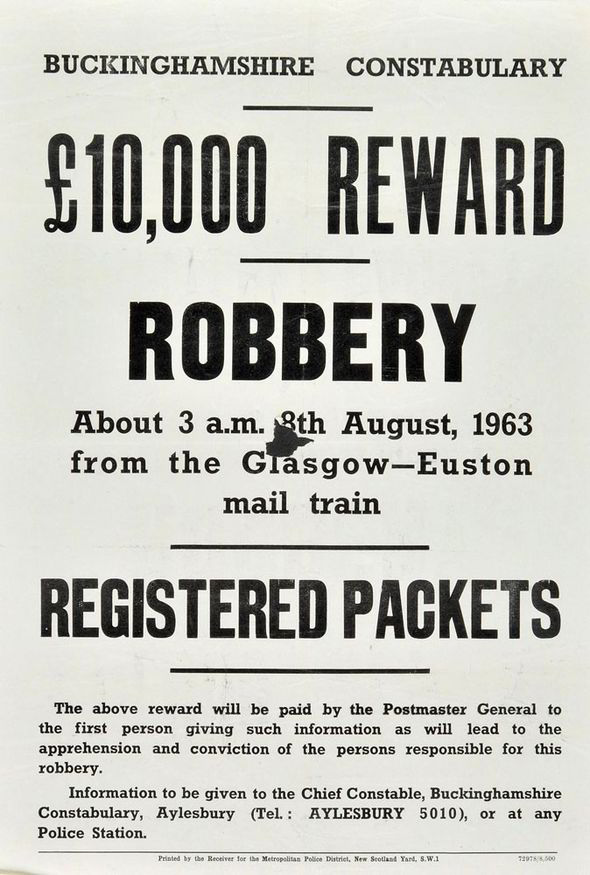 Nature of the crime: THE GREAT TRAIN ROBBERY OF 1963