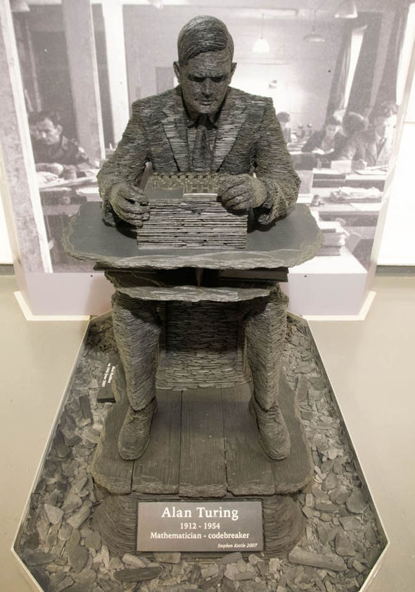 Statue of Turing at Bletchley Park