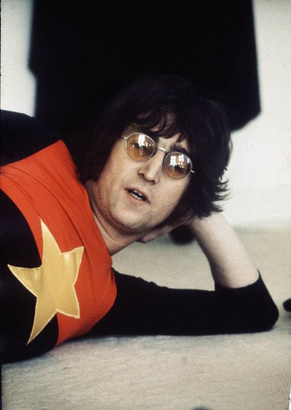 John Lennon with sunglasses