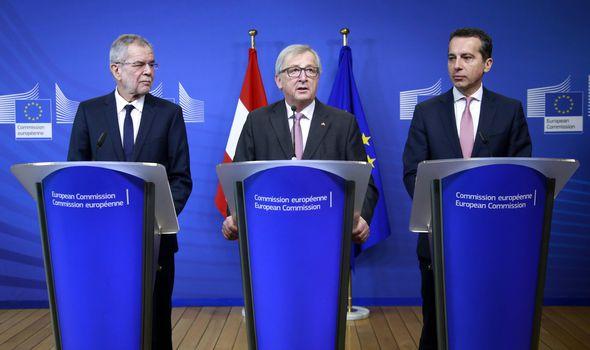 Austrian leaders and Jean-Claude Junker