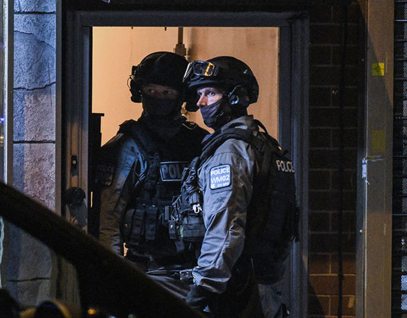 A massive police operation is underway as seven people have been arrested