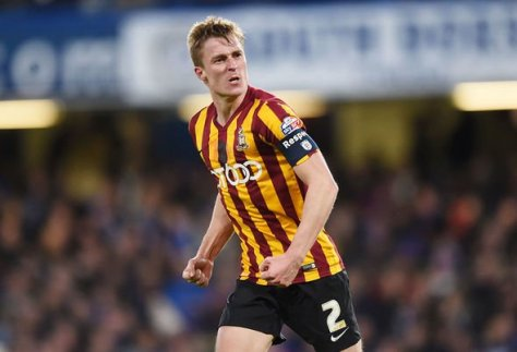 Stephen Darby playing for Bradford City