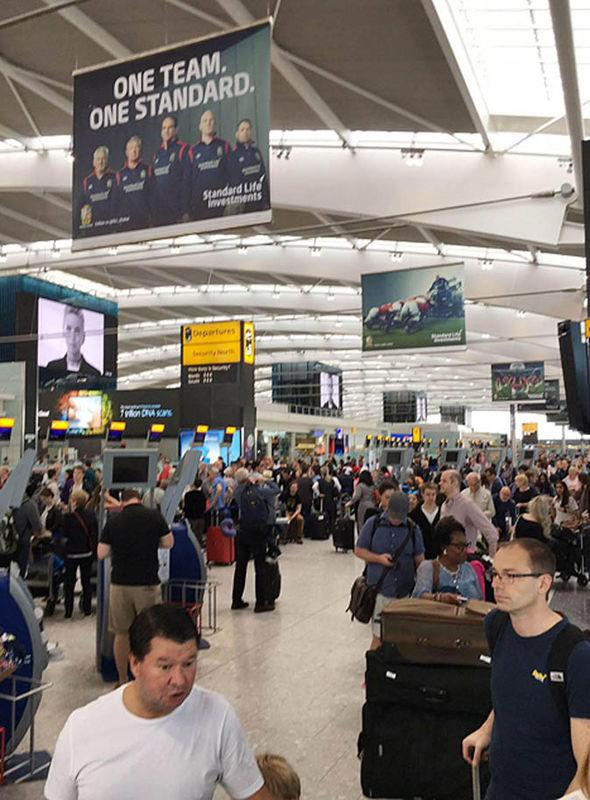British Airways queue