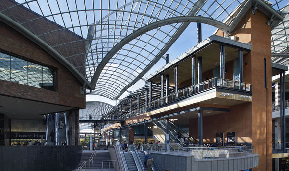 Cabot Circus shopping Centre in Bristol