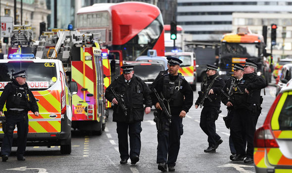 Central London has been on lockdown as authorities deal with the incident