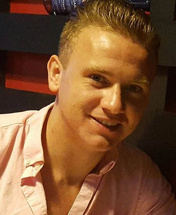 Corrie McKeague in a shirt