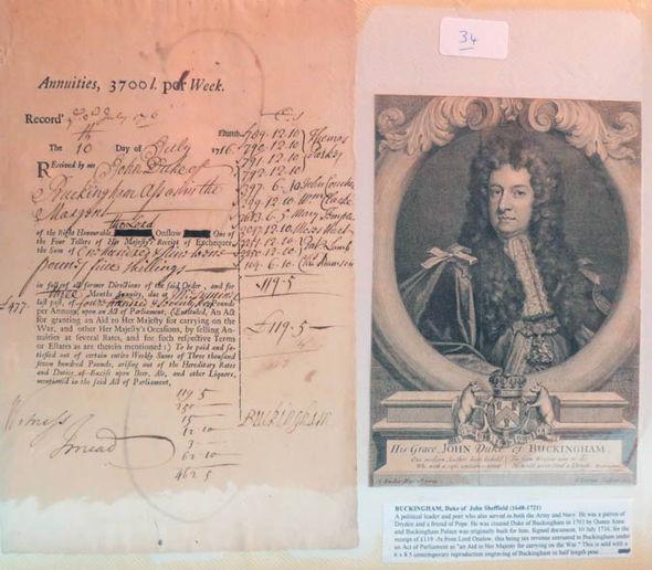 Duke of John Sheffield's signature