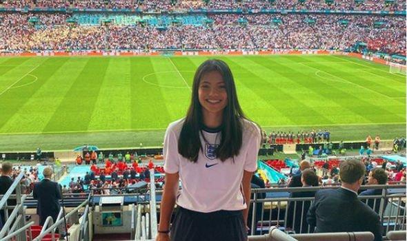 Emma Raducanu was cheering on England at Wembley during this summer's Euro 2020