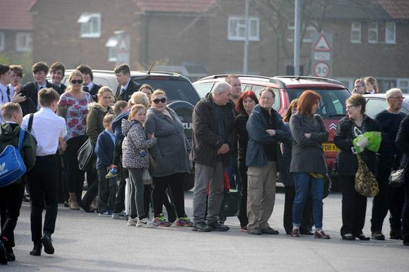 A queue outside the chip shop