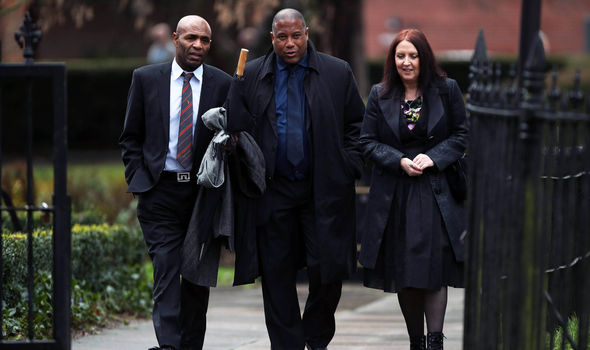 Footie star John Barnes arrives for funeral