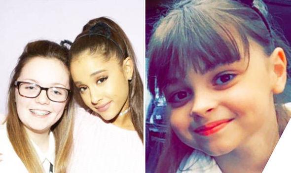 Georgina Callander with Ariana Grande and Saffie Roussos,