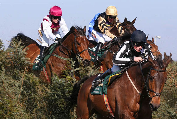 Katie Walsh racing in the Grand National