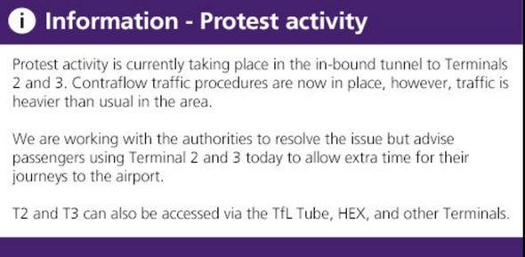 Heathrow airport demonstration