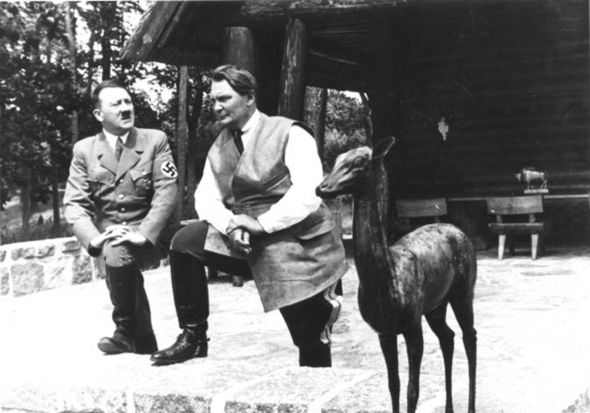 Hermann Goring with Hitler