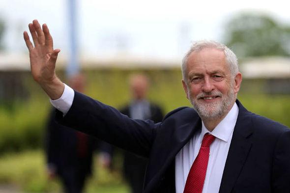 Jeremy Corbyn waving