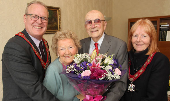 John and Ivy were also congratulated by the Mayor and Mayoress of Buckley Andy and Wendy Williams