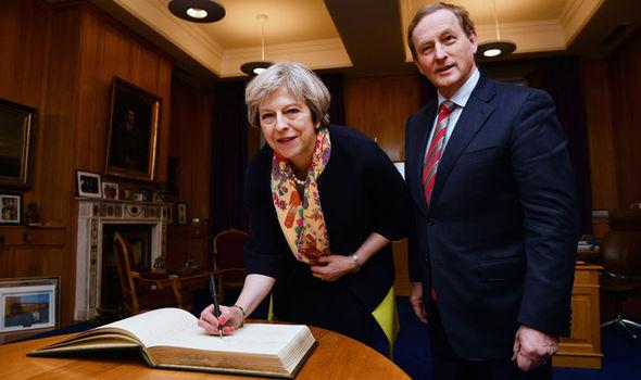 Enda Kenny with Theresa May