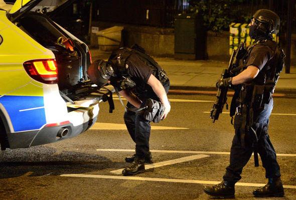 Terror police at London Bridge