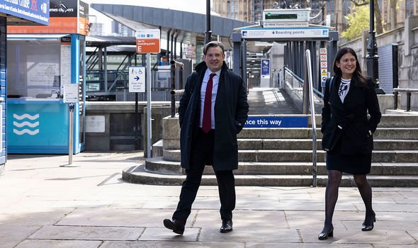 Labour Party: Nandy pictured with Jonathan Ashworth earlier this month