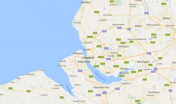 A map of Liverpool