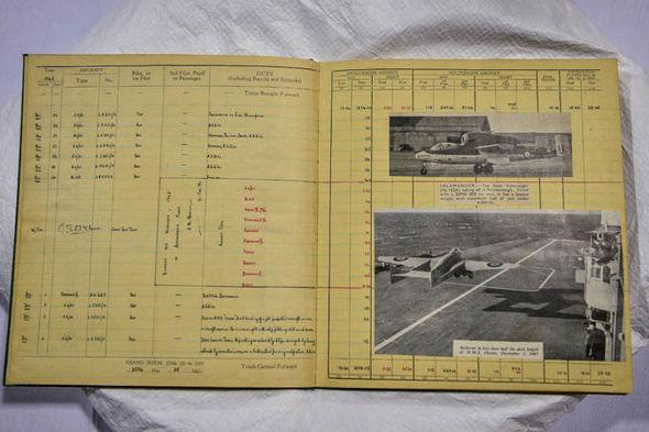 Log book of Captain Eric 'Winkle' Brown