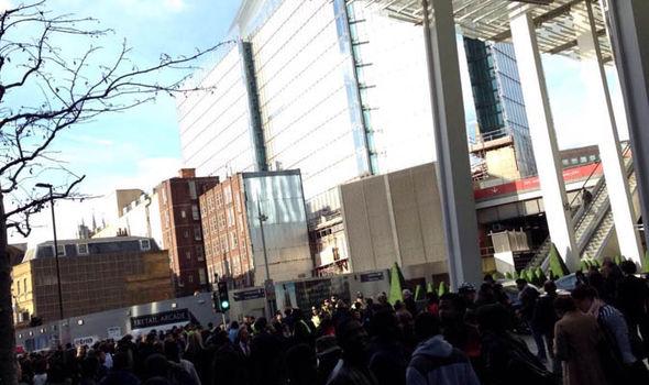 Chaos at London Bridge station