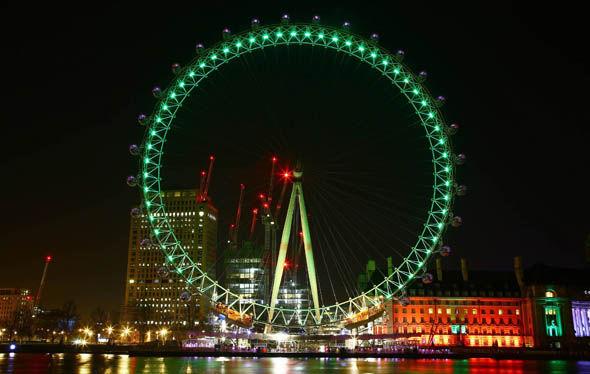 London Eye tourist attraction