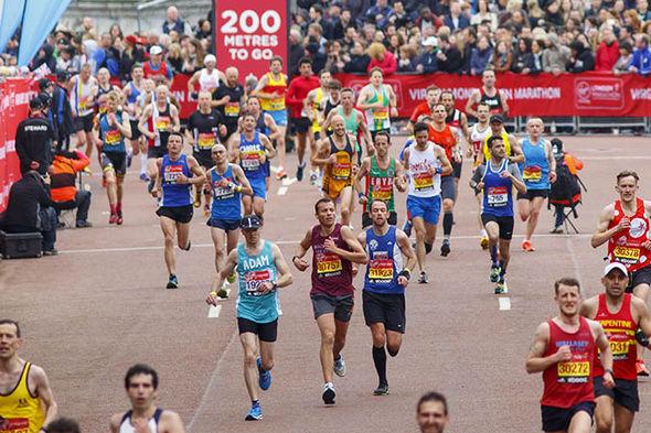 London Marathon finish line