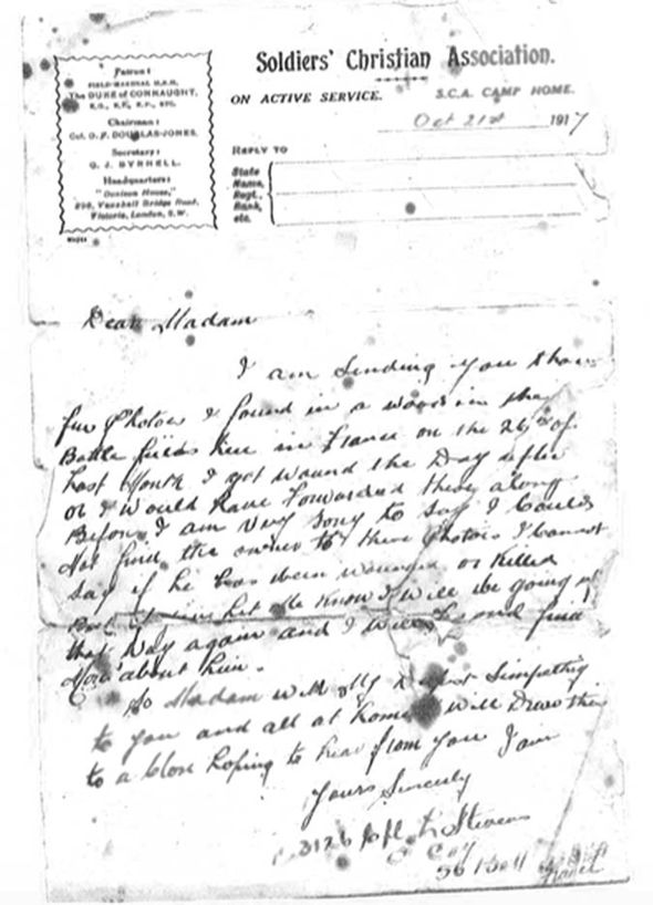 Letter to Alice Snelling