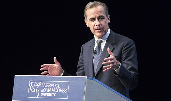 Mark Carney talking at Liverpool John Moores University