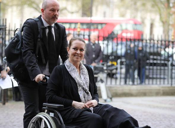 Melissa Cochran in a wheelchair