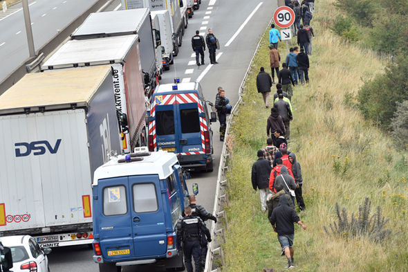 Migrant lorries