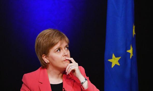 Sturgeon and EU flag