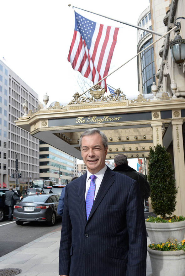 Nigel Farage in Washington