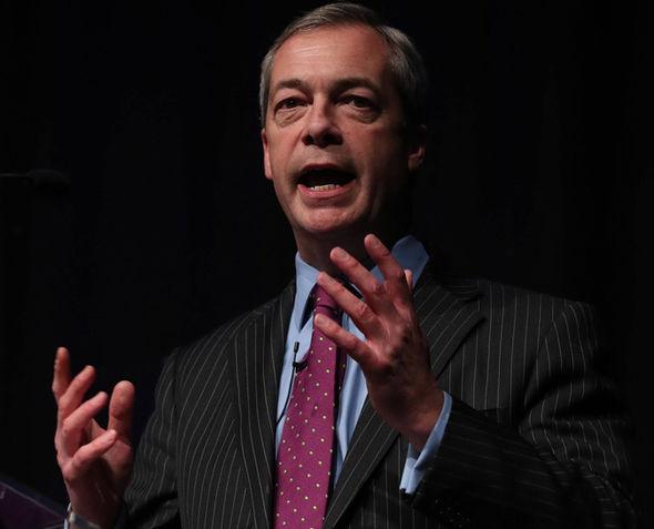 Nigel Farage making a speech