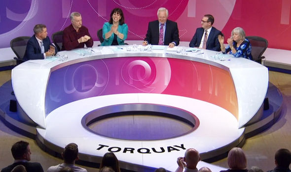Peter Whittle, Claire Perry and Ann Widdecombe led the applause from the pannelists