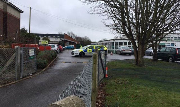 Police cars were seen at Berstead Green School
