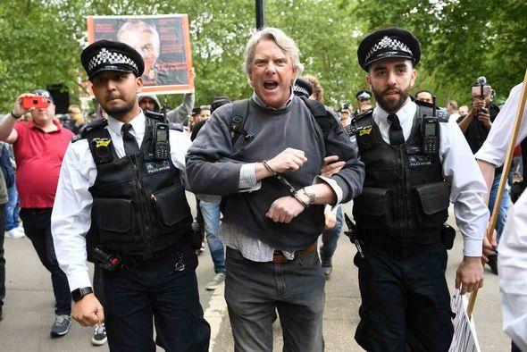 Protestors at Speaker's Corner in Hyde Park