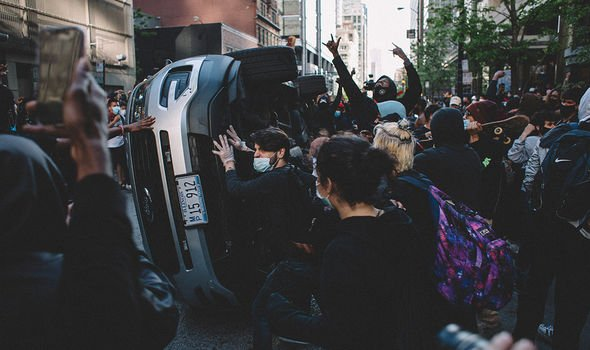 Protests in the US have turned violent