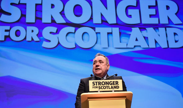 Salmond delivered a speech at the SNP annual conference in November