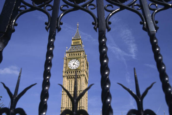 Big Ben through security gates