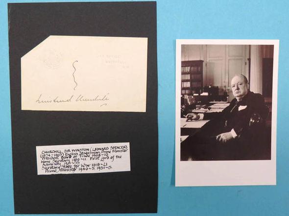 Signature of Sir Winston Churchill