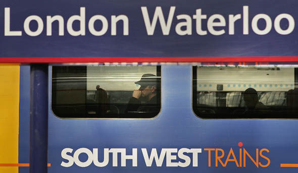 A South West train at Waterloo station